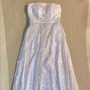 White glitter gown
